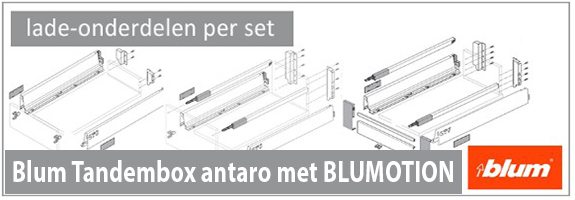 Blum tandembox antaro lade-onderdelen