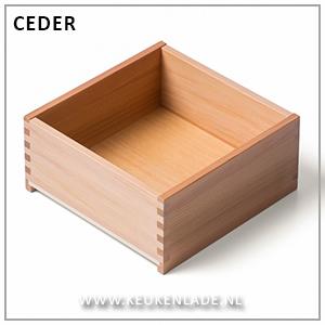 Houten lade Ceder